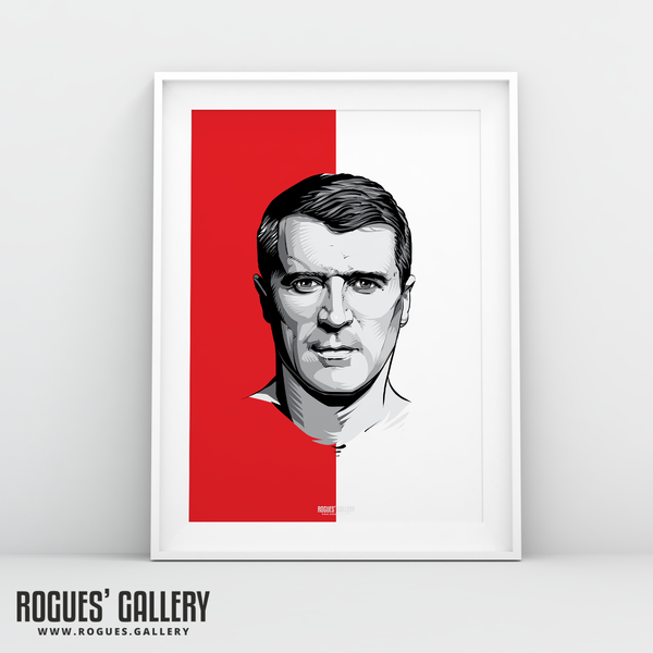 Roy Keane Nottingham Forest NFFC A3 print legend