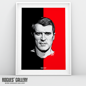 Roy Keane Manchester United A3 print legend