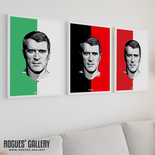Roy Keane Irish midfielder captain manager coach Nottingham Forest Manchester United Eire art prints
