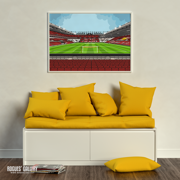 The Stadium of Light Sunderland AFC SAFC Roker Park Stokoe statues Black Cats red white A1 print