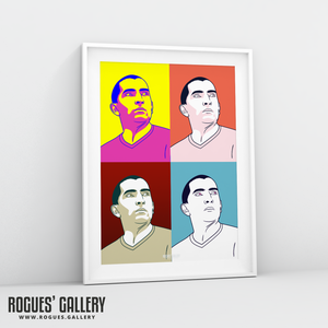 Sabri Lamouchi Nottingham Forest manager NFFC city Ground pop art A3 print