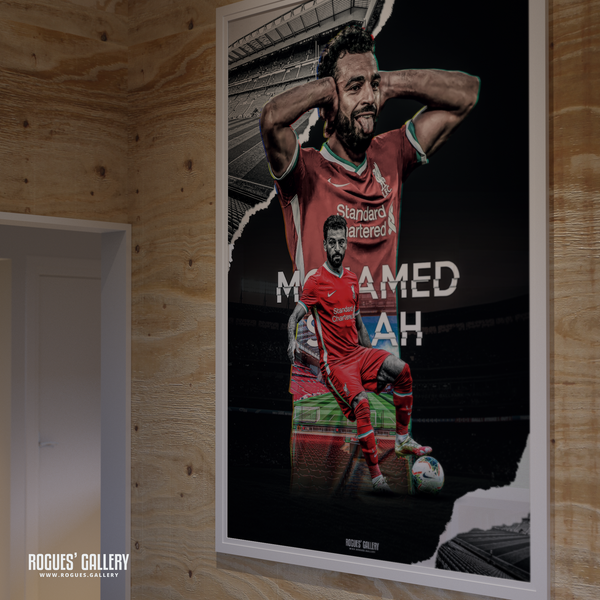 Mo Salah Liverpool FC Anfield Egypt Mido edit huge poster goals champion rare