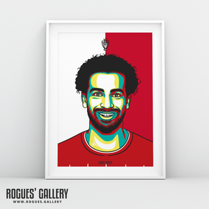 Mo Salah Striker Liverpool FC Anfield Art print A3 Champions Limited Edition