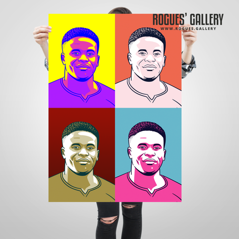 Brice Samba Nottingham Forest pop art goalkeeper keeper art edit A1 print