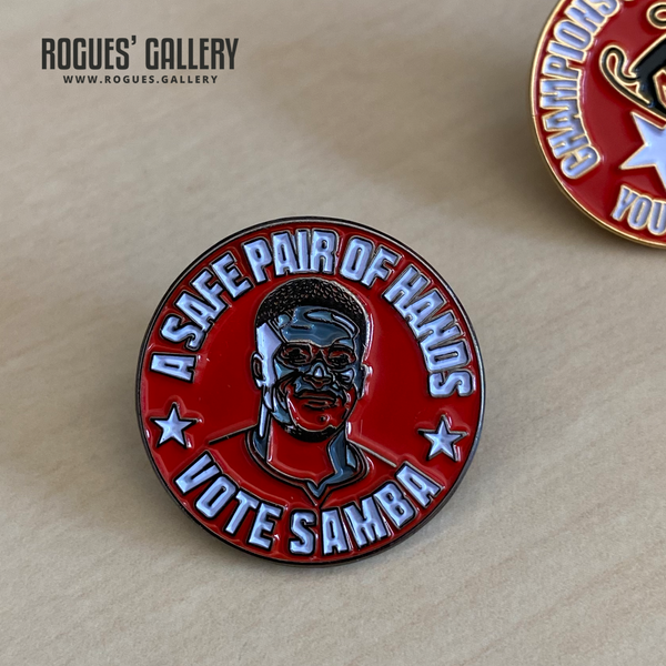 Vote Sambra Brice Samba Nottingham Forest Goalkeeper pin Rogues' Gallery