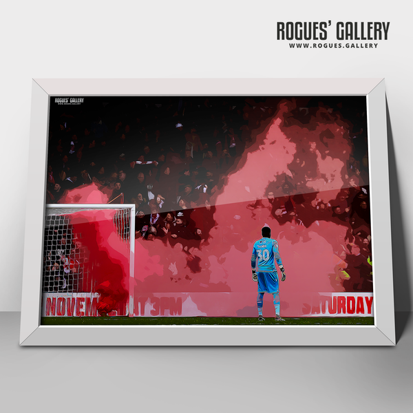 Brice Samba Nottingham Forest goalkeeper smoke A3 edit