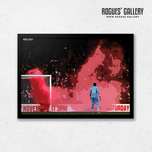 Brice Samba Nottingham Forest goalkeeper smoke A3 print
