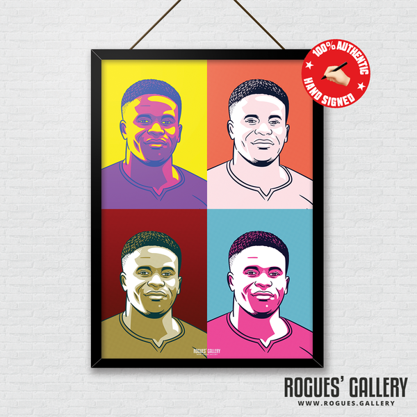 Brice Samba Nottingham Forest keeper Rogues' Gallery A3 pop art