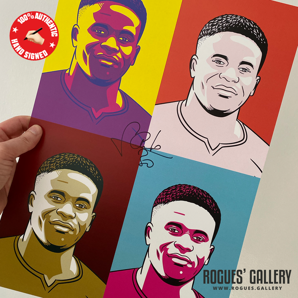 Brice Samba Nottingham Forest French goalkeeper #GetBehindTheLads Rogues' Gallery A3 pop art
