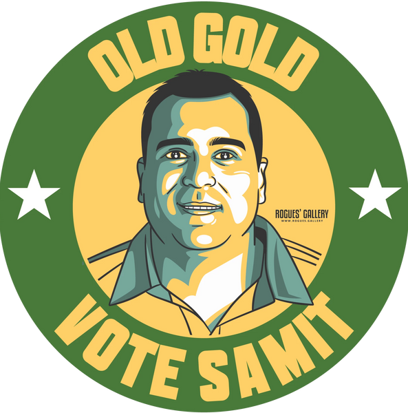 Samit Patel Cricketer Notts all rounder old gold sticker #GetBehindTheLads