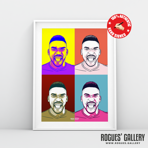 Sammy Ameobi Nottingham Forest winger signed pop art print A3 #GetBehindTheLads