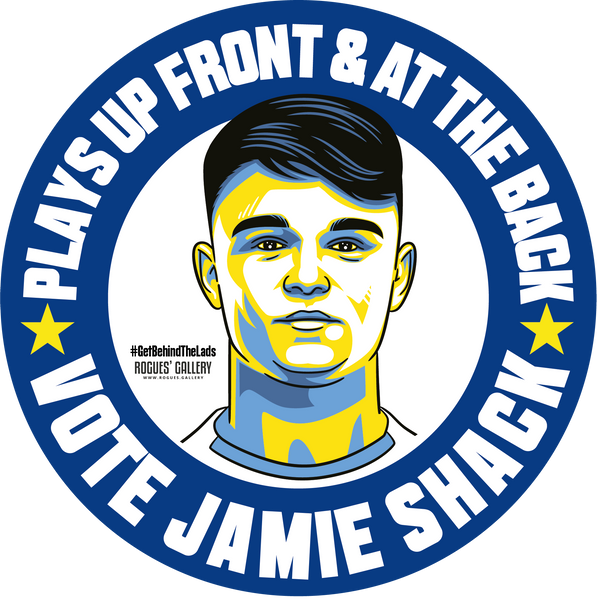 Jamie Shackleton Leeds United midfielder stickers Vote #GetBehindTheLads