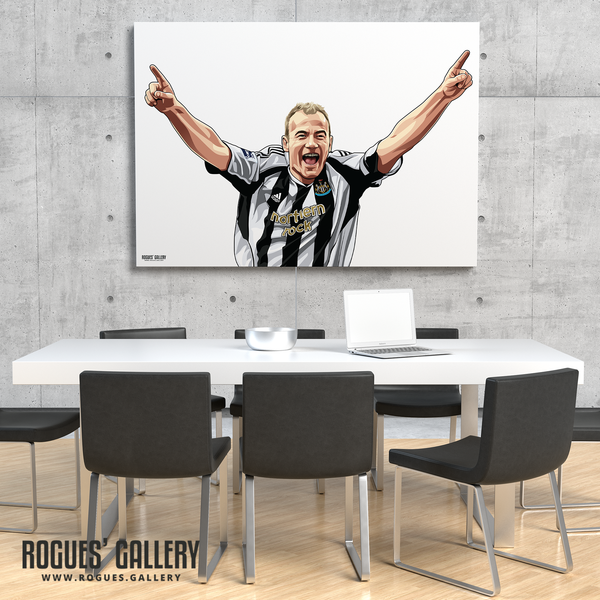 Shearer: Welcome To St. James' Park - A0, A1 or A3 Print