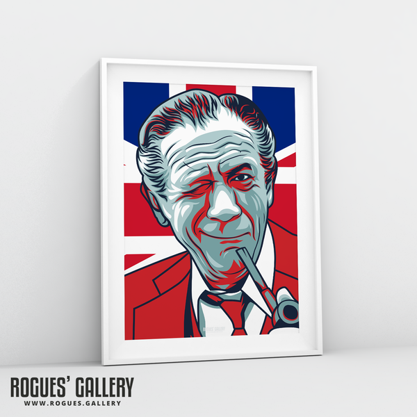 Sid James carry on films retro seventies star movies A3 print