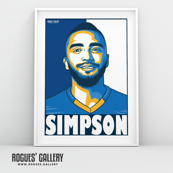 Danny Simpson full back Leicester City LCFC Foxes Premier League Champions A3 Print
