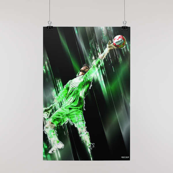 Goalkeeper Jordan Smith Nottingham Forest Ipswich Save Vital Print A3 Mansfield Town