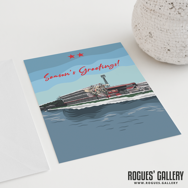 "The City Ground Nottingham Forest FC Season's Greetings Card 6x9"" Trent"