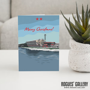 The City Ground Nottingham Forest FC Merry Christmas Card 6x9""