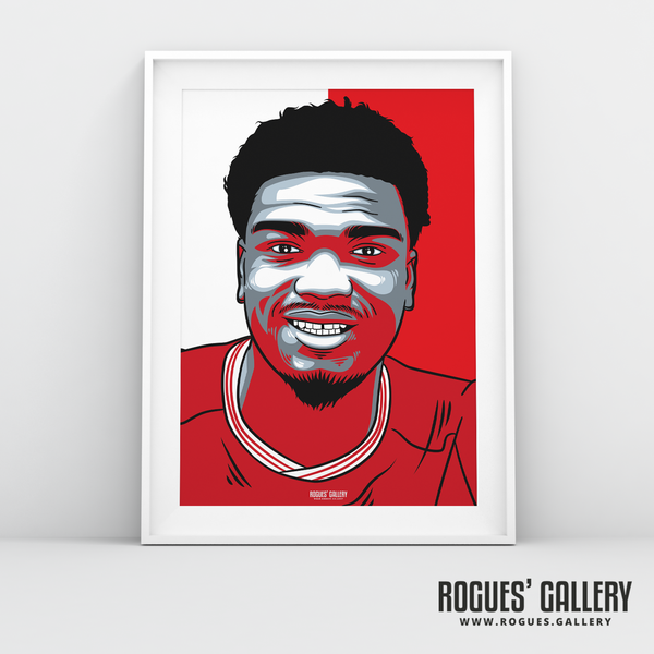 Loic Mbe Soh centre half Nottingham Forest FC The City Ground NFFC A3 print