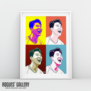 Son Heung-min THFC Spurs striker A3 print art #GetBehindTheLads Tottenham Hotspur FC London South Korea Korean pop art edit