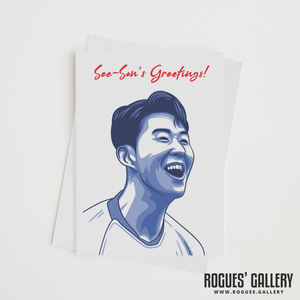 Son Heung-min see-son's greetings greeting card Spurs winger THFC