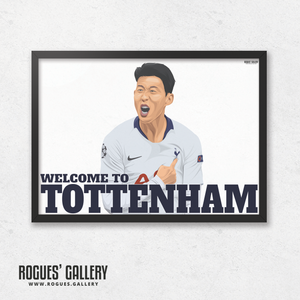 Son Heung-min Spurs THFC South Korean Striker Welcome To Tottenham A3 print Korea goal