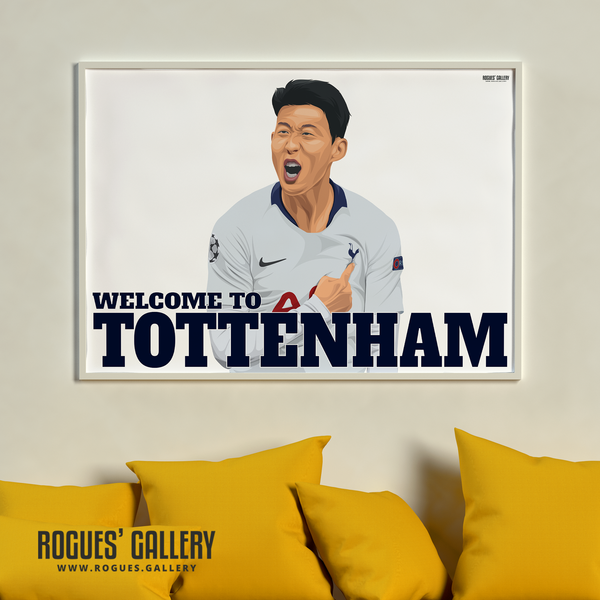Son Heung-min Spurs THFC South Korean Striker Welcome To Tottenham artwork present limited edition stylish brilliant