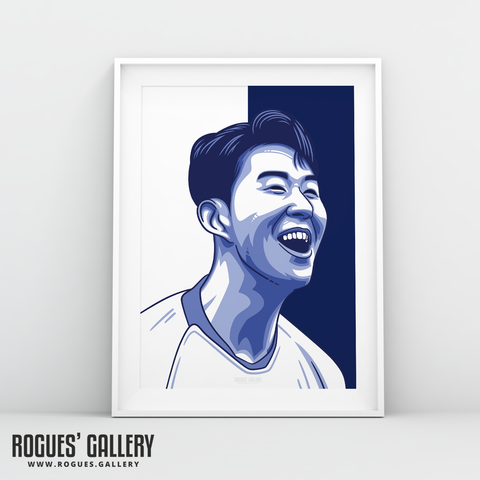 Son Heung-min THFC Spurs striker A3 print art #GetBehindTheLads Tottenham Hotspur FC London South Korea Korean