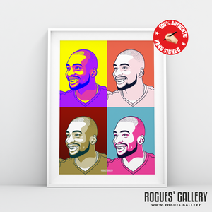 Samba Sow Nottingham Forest midfielder signed pop art print A3 #GetBehindTheLads
