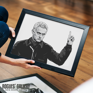 Jose Mourinho print A3 Tottenham Hotspur manager The Special One portrait