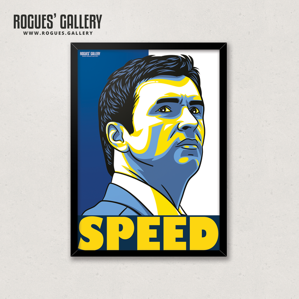 Gary Speed Leeds United manager legend captain A3 print