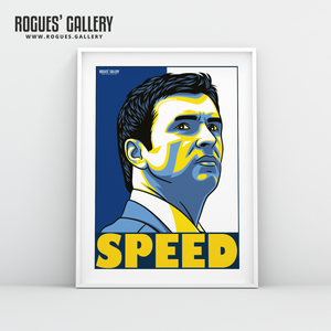 Gary Speed Leeds United Elland Road LUFC midfielder A3 art print