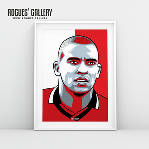 Stan Collymore Nottingham Forest forward A3 print edit design