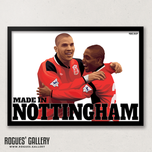 Stan Collymore Bryan Roy Nottingham Forest The City Ground Legends A3 Art Prints edits goals