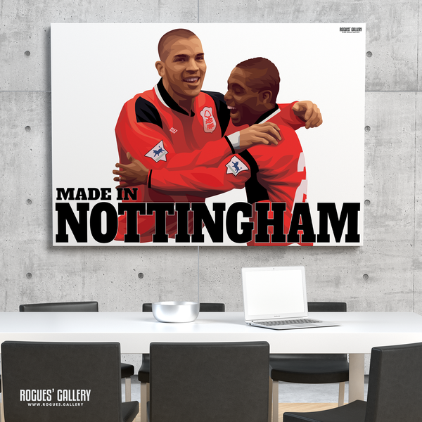 Stan Collymore Bryan Roy Nottingham Forest The City Ground Legends A3 Art Prints