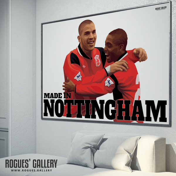 Stan Collymore Bryan Roy Nottingham Forest The City Ground Legends A0 Art Prints great goals
