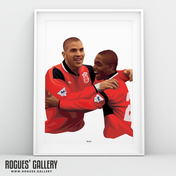 Stan Collymore Bryan Roy Nottingham Forest The City Ground Legends A3 Art Print
