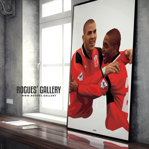 Stan Collymore Bryan Roy Nottingham Forest The City Ground Frank Clark edit
