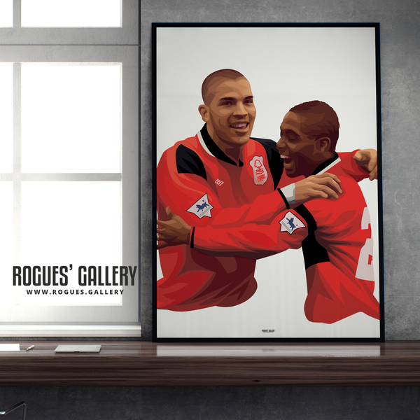 Stan Collymore Bryan Roy Nottingham Forest The City Ground A1 Art Print