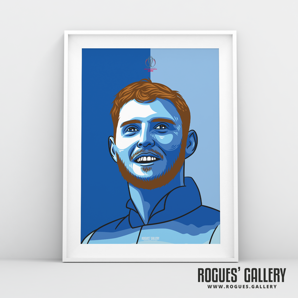 Ben Stokes England Cricket World Cup CWC2019 Winners art print A3 edit