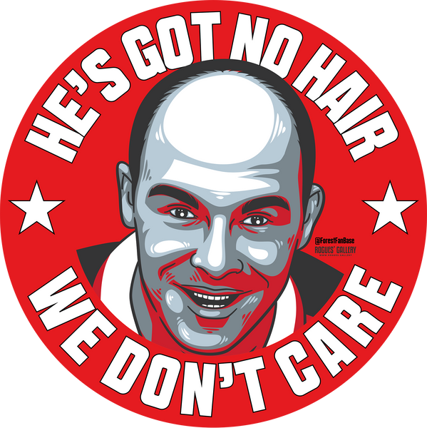 Steve Stone Stevie No Hair Nottingham Forest stickers NFFC