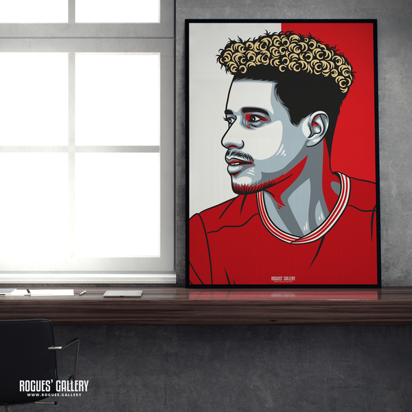 Lyle Taylor striker Nottingham Forest FC The City Ground NFFC A1 print