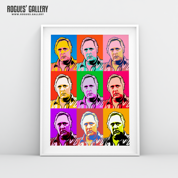 Peter Taylor Nottingham Forest City Ground pop art portrait