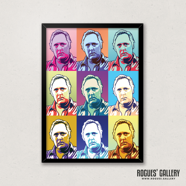 Peter Taylor Nottingham Forest City Ground 40 years assistant pop art portrait edit