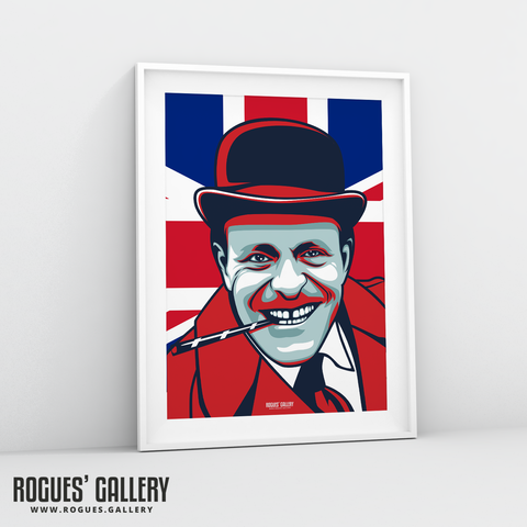 Terry Thomas British Actor retro A3 print bounder
