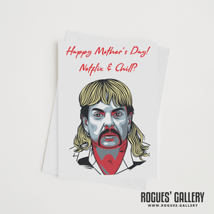 The Tiger King Joe Exotic Zoo Mother's Day card Netflix