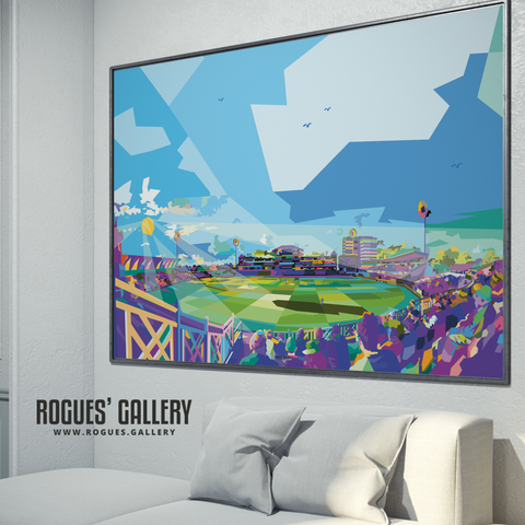 pop art Trent Bridge Cricket Ground Vitality Blast T20 County Cricket modern landscape A0 print on wall