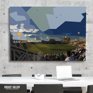 Trent Bridge Cricket Ground Vitality Blast T20 County Cricket modern landscape A0 art print
