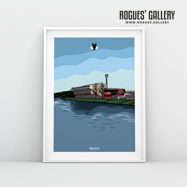 The City Ground NG2 0115 982 4450 Nottingham Forest A3 Print design