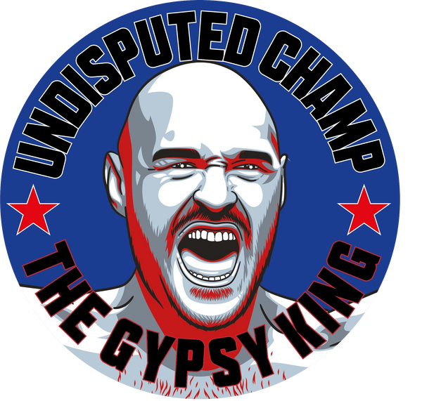 Tyson Fury World Heavyweight Champion campaign stickers Gypsy King #GetBehindTheLads